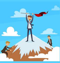 Successful career design concept vector