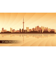 Toronto city skyline silhouette background vector image