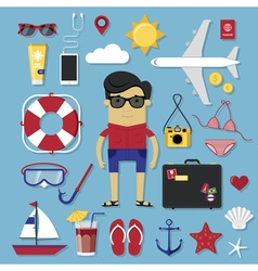 Travel set vector image vector image