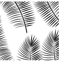 Tropical leafs pattern background vector