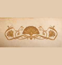 vintage egyptian ornament vector image vector image
