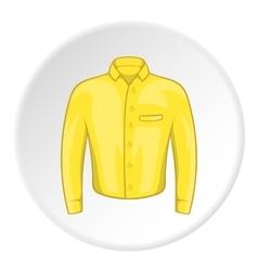 Yellow men shirt icon cartoon style vector image