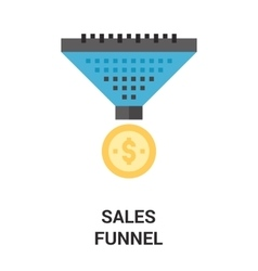 Sales funnel icon concept vector