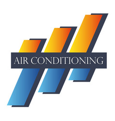 Air conditioning symbol abstract vector