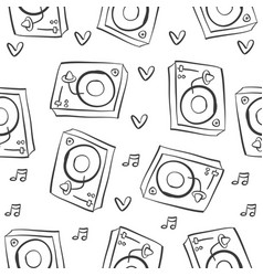 Musical instrument pattern style collection vector