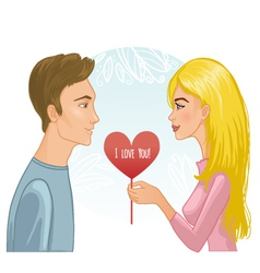 Young couple vector image