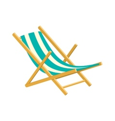 Wooden collapsible chaise lounge for rest vector
