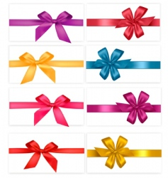 Gift-wrap ribbons vector