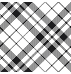 Hibernian fc tartan black and white plaid diagonal vector
