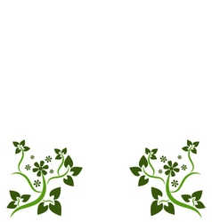 Floral decorations vector