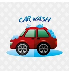 Car wash service design vector