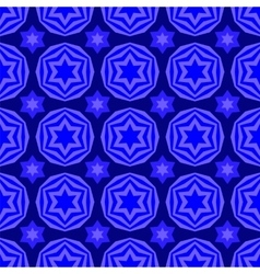 Blue david star seamless background vector