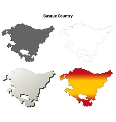 Basque Country blank detailed outline map set vector image vector image