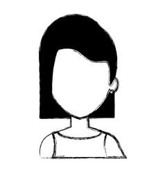 beautiful woman avatar character vector image vector image