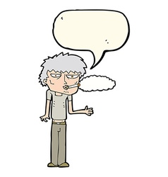 cartoon smoker with speech bubble vector image