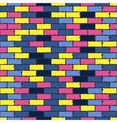 colorful aged bricks vector image vector image