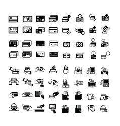 credit card icons set 64 item vector image vector image
