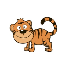 Cute little tiger vector image vector image