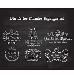 Day of the dead logotype set vector image vector image