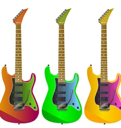 electric guitars vector image vector image
