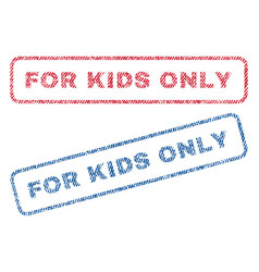 For kids only textile stamps vector