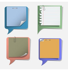 Four torn paper speech bubbles vector image