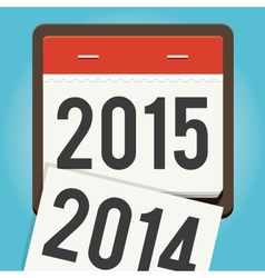 Happy new year 2015 calendar vector