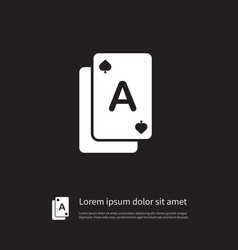 isolated gamble icon poker element can be vector image