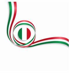 Italian wavy flag background vector