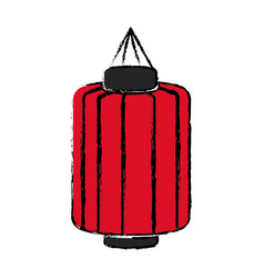japanese lantern decoration festive culture vector image