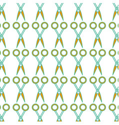 Medical scissors tool surgery accessory background vector
