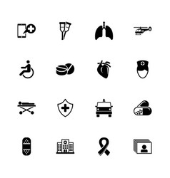 medical transportation - flat icons vector image vector image