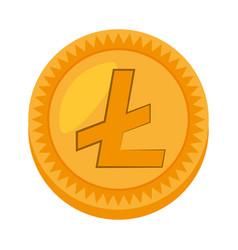 money litecoin golden icon vector image