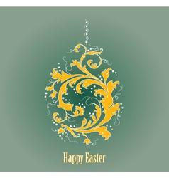 Ornamental easter egg vector image