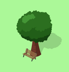 park bench with tree isometric vector image vector image