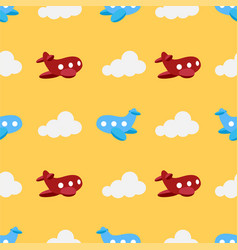 pattern with planes vector image