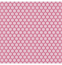 Pink seamless snowflakes pattern snow background vector image