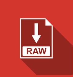 Raw file document icon download raw button icon vector