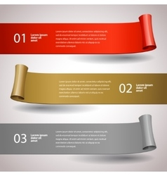 ribbons set Design infographic template vector image vector image