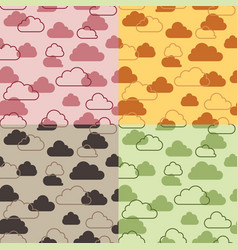 seamless pattern of clouds on sky vector image vector image