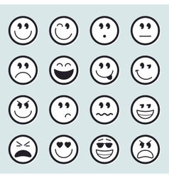 Set of emoticons icons vector image vector image