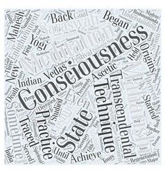 Transcendental meditation word cloud concept vector