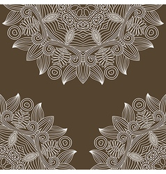 vintage floral ornamental background vector image
