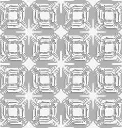 White split leaves on gray seamless vector