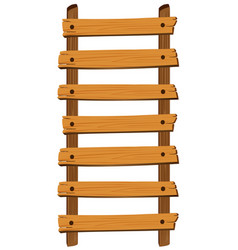 wooden ladder on white background vector image vector image