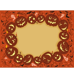 Happy halloween frame vector