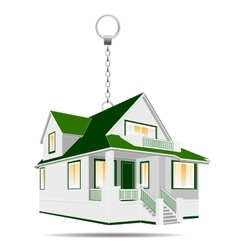 House as a keychain vector