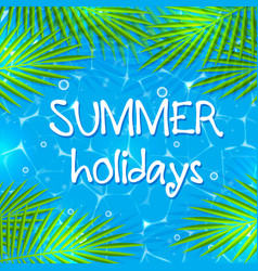 Summer background with palm branches vector