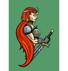 Warrior girl vector