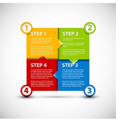 One two three four - paper steps vector